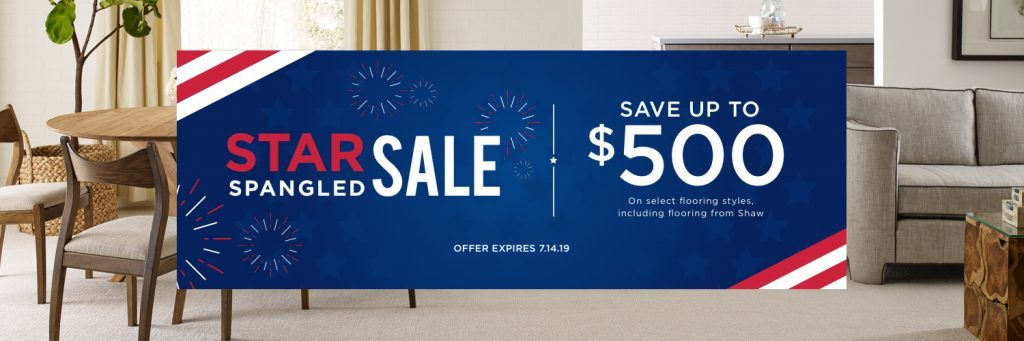 Star Spangled Sale | Flooring By Design
