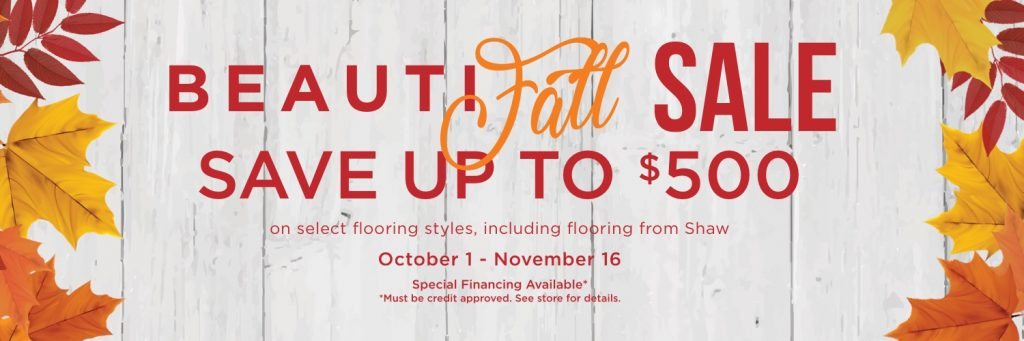 Beautifall sale banner | Flooring By Design